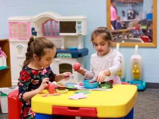 preschool room pretend play