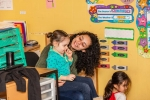 Circle time in the preschool room at Pittford location