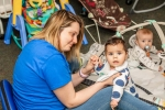 Teacher and infant at Pittsford location
